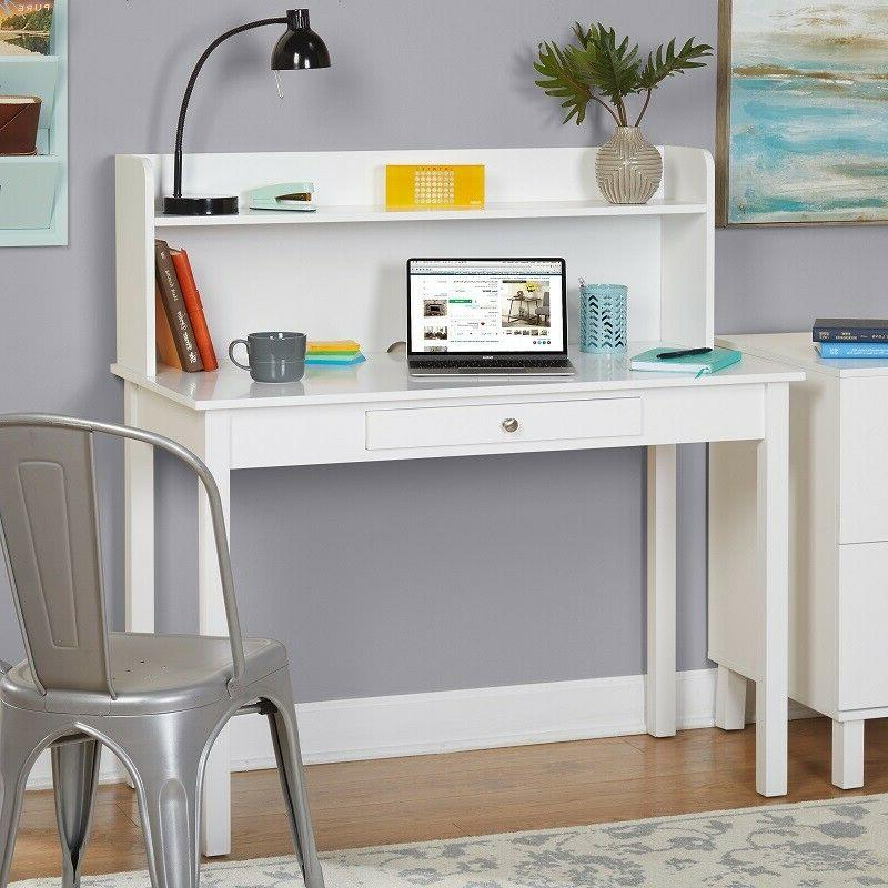 Desk For Girls White With Hutch Modern Farm Country Cottage