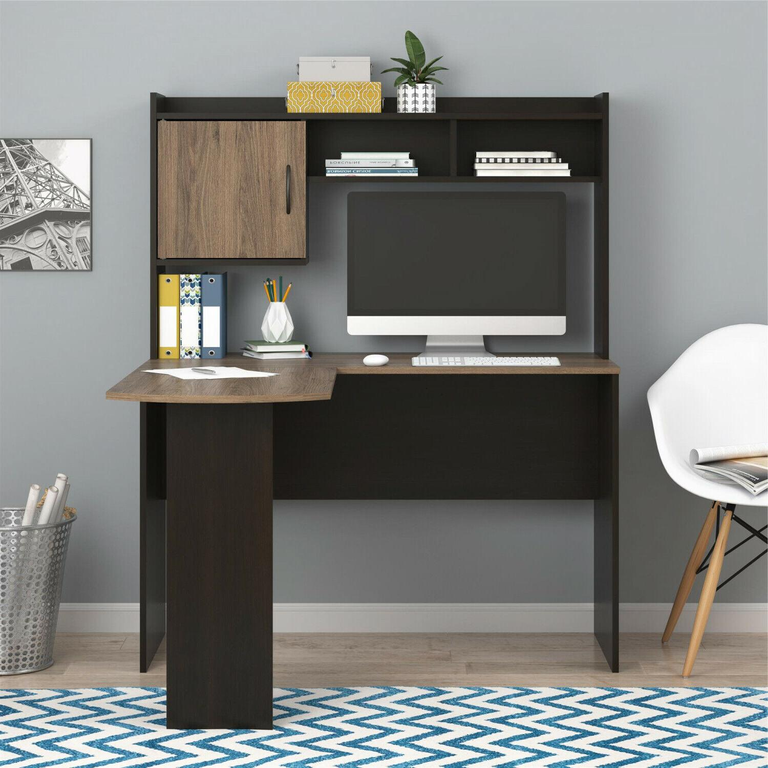 Desk Hutch Home Office Cubbies and Cabinet