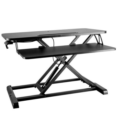 Height Adjustable Monitor Riser Sit to Workstation