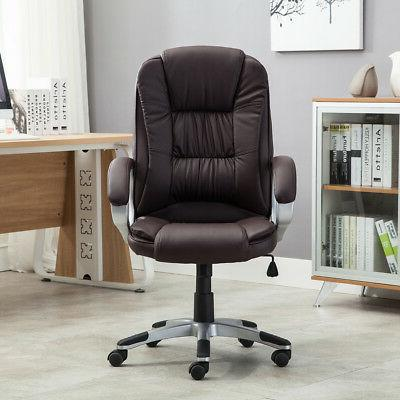 High Leather Executive Office Desk Task Computer boss NEW