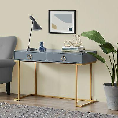 home office two drawers computer desk vanity