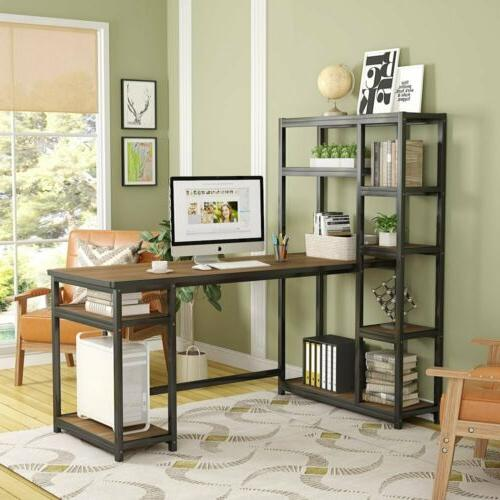 Tribesigns L-Shape Computer Desk with Storage for Home