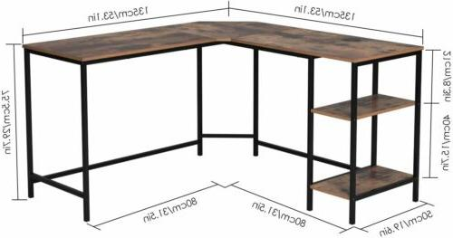 L-Shaped Desk Study Work Table Office