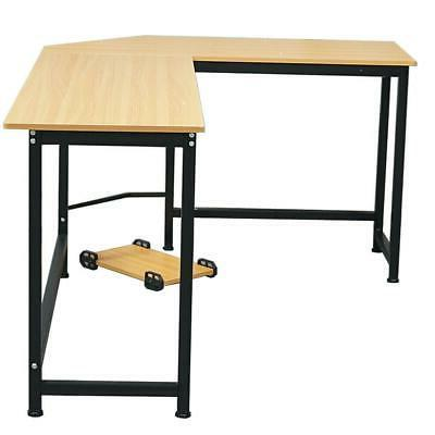 L-Shaped Gaming Laptop Table Home Desk