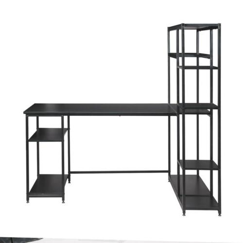 Metal Home Office Computer Desk with Storage