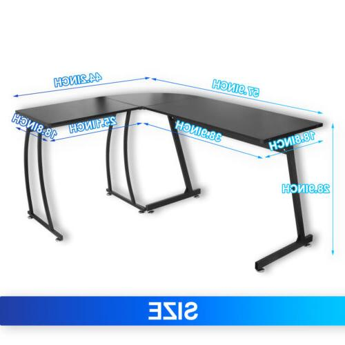 Modern L-Shaped Home PC Study Table