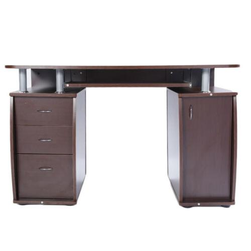 New PC Laptop Table w/Drawer Office Study Workstation Color
