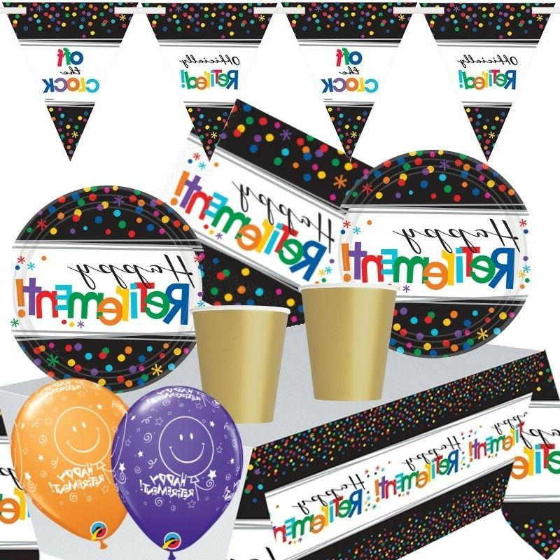 officially retired retirement themed party range balloons