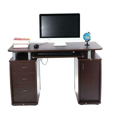 PC Computer Desk Laptop Table Study Writing Workstation Home