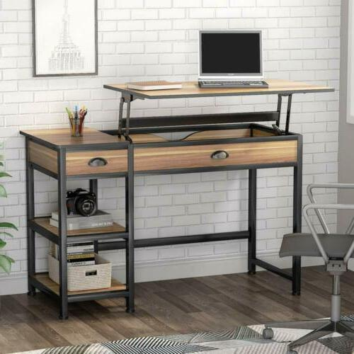 Lift Top Desk 47'' Height Adjustable Standing Desk with Draw