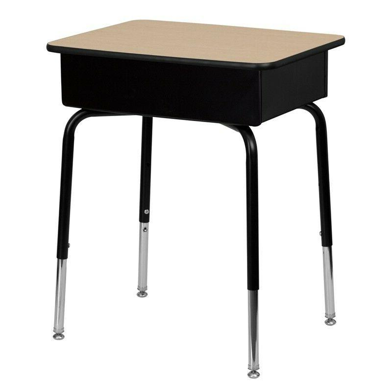 Student Desk with Open Front Box -