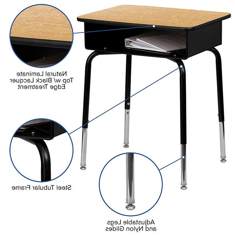 Student with Open Front Metal Book - Classroom
