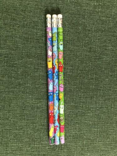 ugly dolls pencils 3 count vintage new
