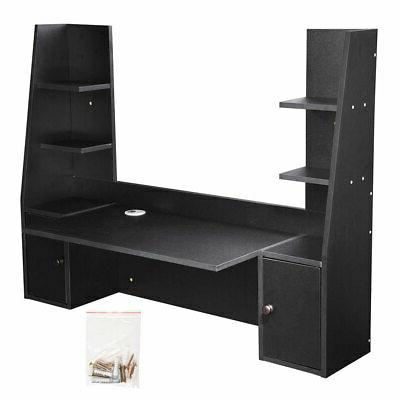 Wall Computer Desk Wood Hanging Table 55.1 with