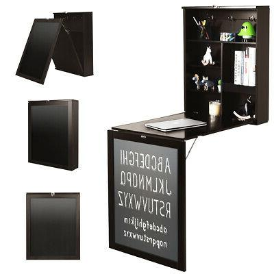 wall mounted table fold out convertible desk