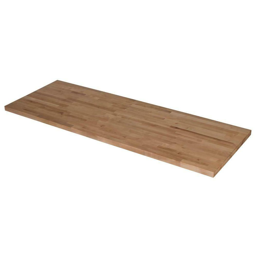 Wood Butcher Countertop Unfinished Kitchen Surface Counter Desk