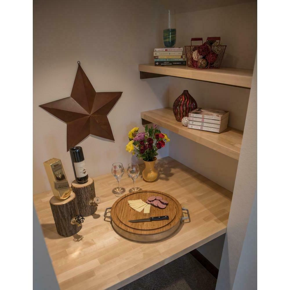 Wood Butcher Countertop Unfinished Kitchen Surface Desk