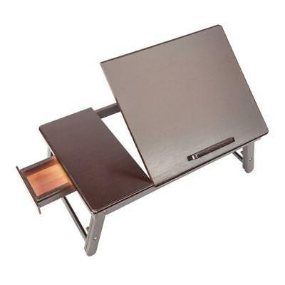 Wood Folding Tray Drawer Food Brown Color