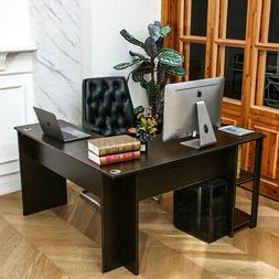 L-Shaped Corner Computer Desk Laptop Gaming Table Study Work