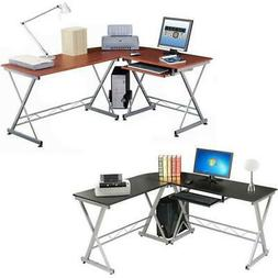 L-Shaped Corner Computer Desk PC Latop Study Table Workstati