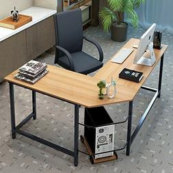 L-Shaped Desk Corner Computer Gaming Laptop Table Workstatio