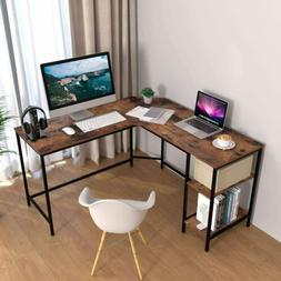 L-Shaped Table L Desk Study Work Gaming Office Computer Corn