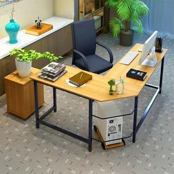 L-Shaped Wood Computer Desk Gaming Laptop Table Office Home