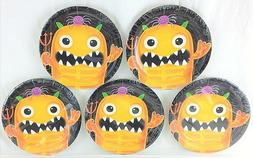 Lot of  Amscan Boo Crew Monster 7-Inch Small Dessert Paper P