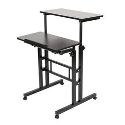Mobile Stand Up Desk/Height Adjustable Computer Work Station