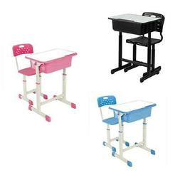 New 3 Colors Student Desk and Chair Set Adjustable Child Stu