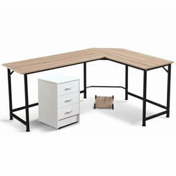 Office Desk L Shape Corner Desk with Drawers Corner Desks fo