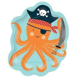 PIRATE PARTY Ahoy Birthday OCTOPUS PAPER PLATES  ~ Supplies