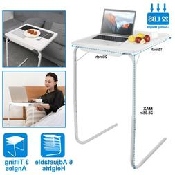 Portable Foldable Sofa Table TV Dinner Bed Adjustable Tray L