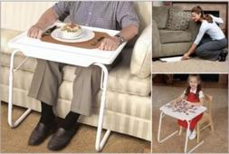 PORTABLE MATE TV DINNER LAPTOP TRAY ADJUSTABLE FOLDING TABLE