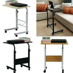 Rolling Laptop Table Overbed Desk Tabletop Food Tray Hospita