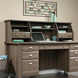 Sauder Shoal Creek Executive Desk with Hutch in Diamond Ash