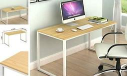 SHW Home Office 48-Inch Computer Desk, White/Oak