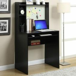 Student Desk With Hutch For Bedroom Office Dorm Black Small