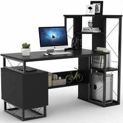 """Tribesigns 57"""" Computer Desk With Drawers Corner Shelves Hom"""