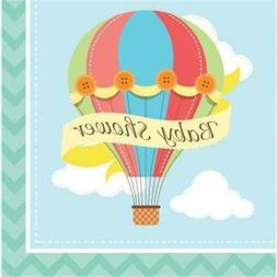 Up Up and Away Baby Shower Lunch Napkins 18 Per Pack