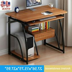 US Wood Computer Desk Drawer Study Laptop PC Table Workstati