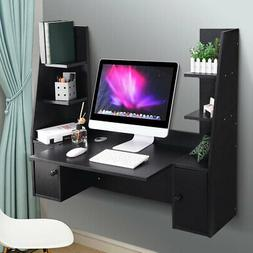 Wall Mounted Floating Computer Desk Wood Hanging Table 55.1