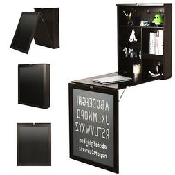Wall Mounted Table Fold Out Convertible Desk with A Blackboa