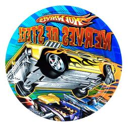 """Amscan Hot Wheels Speed City 7"""" Paper Plates, 8-Count"""
