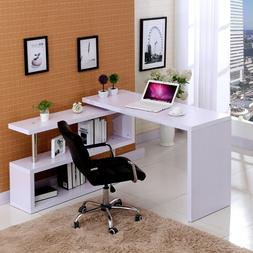 white computer desk l shape gaming writing