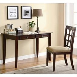 """Writing Table/Chair Rich Cherry Finish Table:48""""lx24""""wx30""""h"""